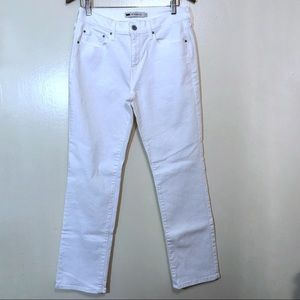 Levis White 505 Straight Leg Mom Jeans